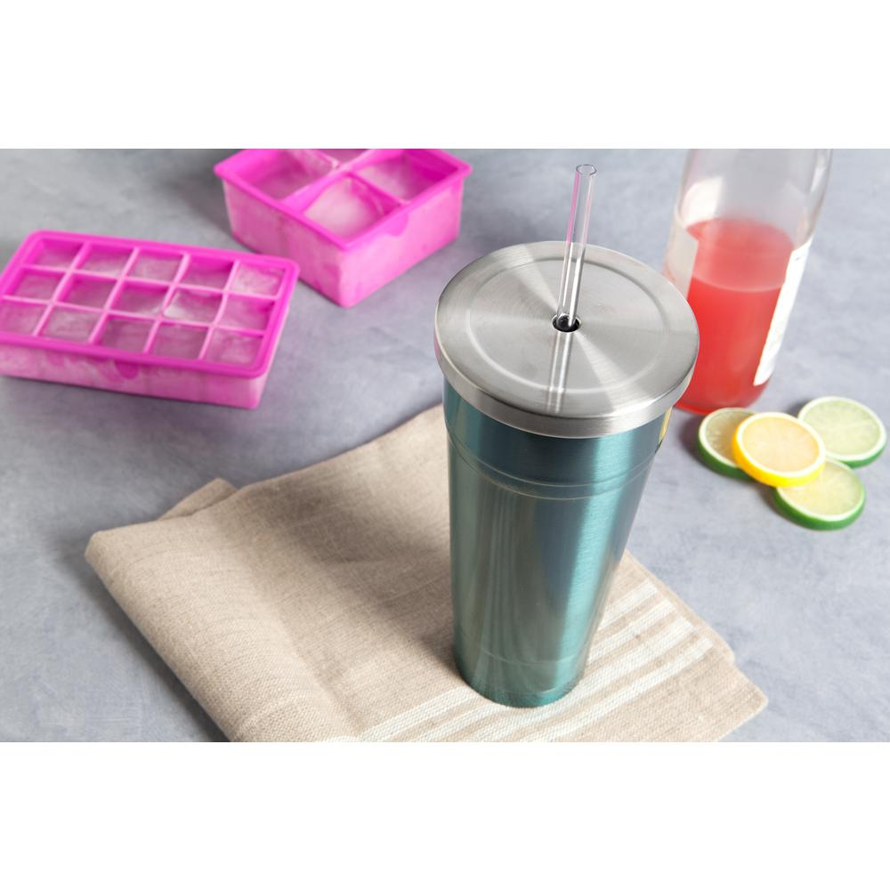 382fcdcb7fe Manna 24 oz. Ice Stainless Steel Vacuum Tumbler HD18106 - The Home Depot