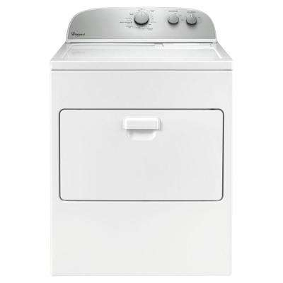 7.0 cu. ft. Gas Front Load Dryer in White