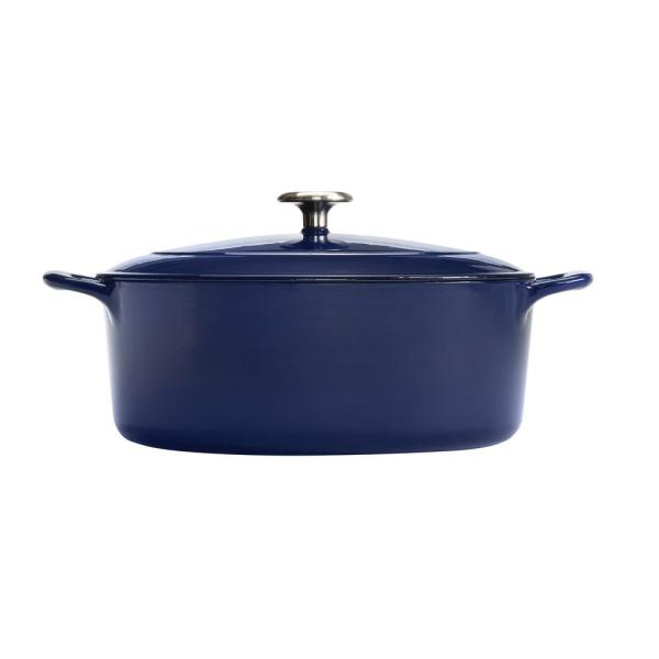 Tramontina Gourmet 5.5 Qt. Cast Iron Oval Dutch Oven 80131/077DS
