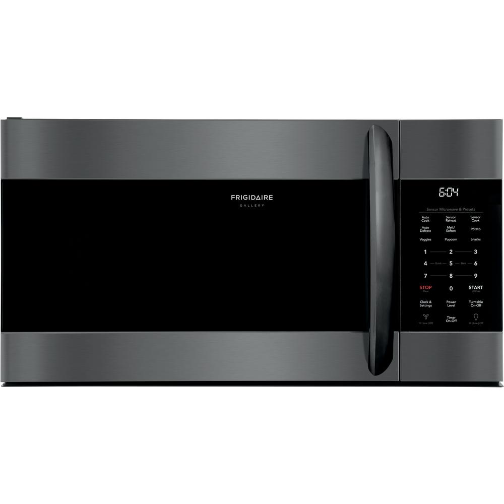 Frigidaire Gallery 1 7 Cu Ft Over The Range Microwave In Smudge Proof Black Stainless Steel With Sensor Cooking Technology