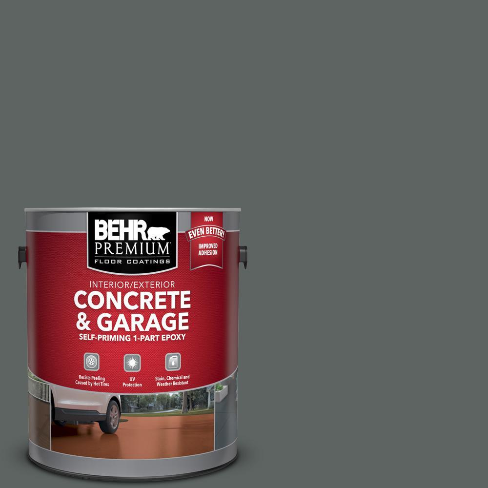 1 gal. #BXC-41 Charcoal Self-Priming 1-Part Epoxy Satin Interior/Exterior Concrete and Garage Floor Paint