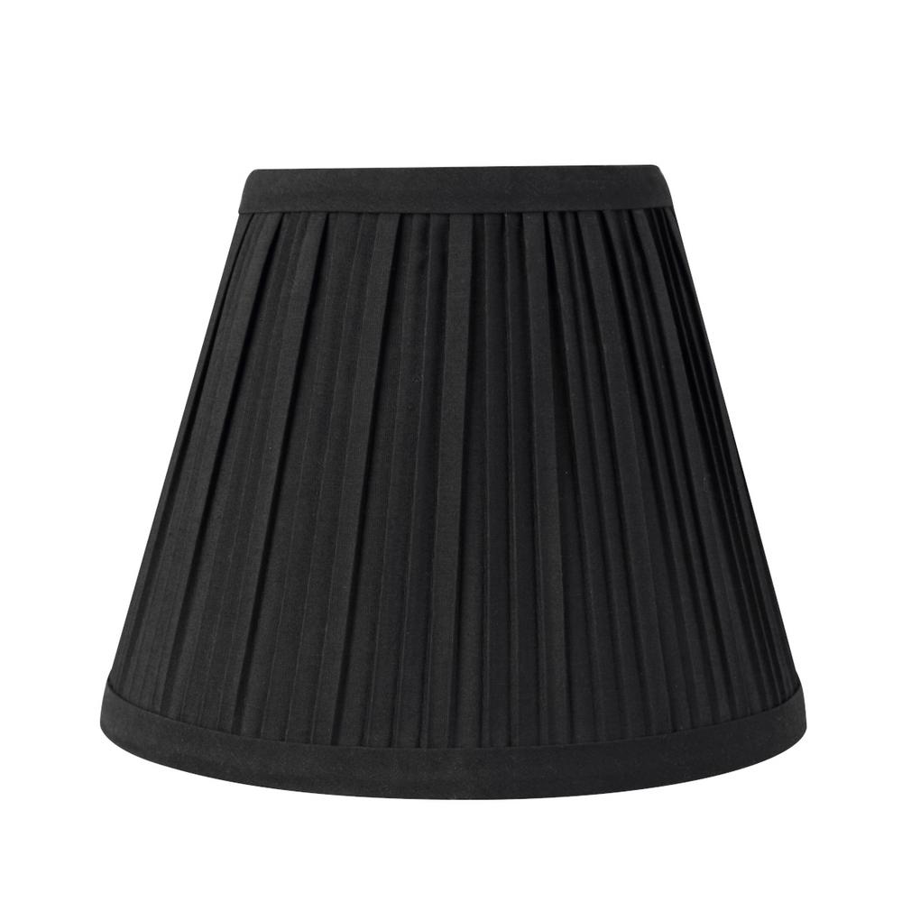 Aspen Creative Corporation 8 In. X 6.5 In. Black Pleated Empire Lamp Shade