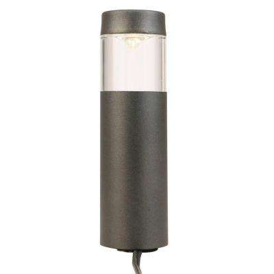 Low-Voltage Black Outdoor Integrated LED Round Bollard Path Light