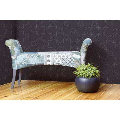 Debut Collection Puzzle in Platinum Removable and Repositionable Wallpaper