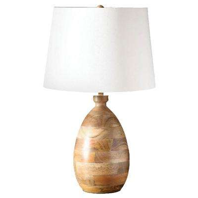 Agathe 24 in. Mango Wood Table Lamp