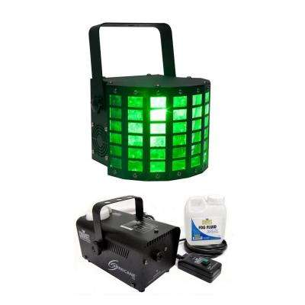 RGBW LED Moonflower Light with Chauvet DJ Fog Machine