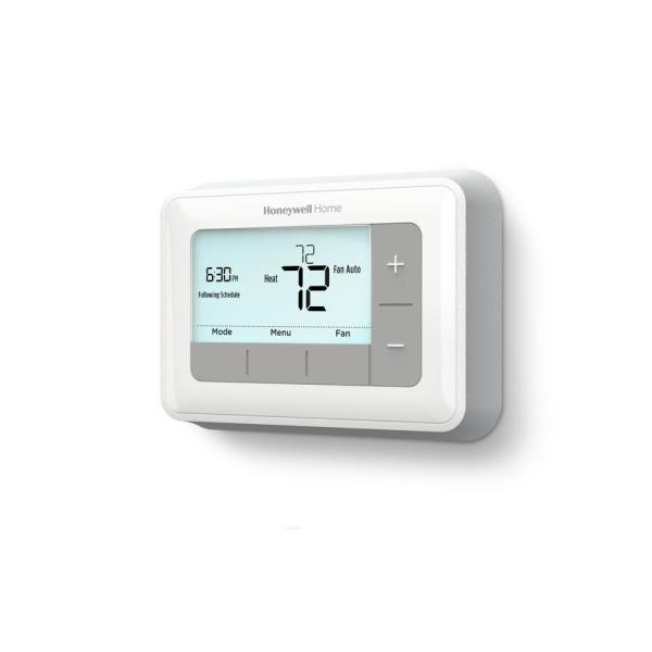 T5 7-Day Programmable Thermostat with Digital Backlit Display