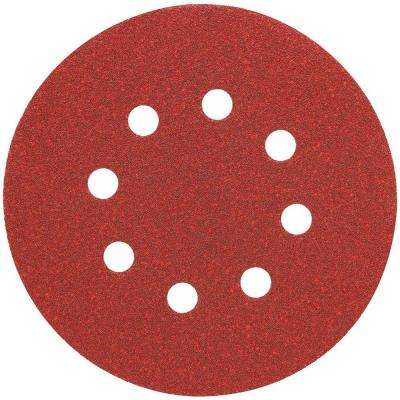 5 in. 8 Hole 150-Grit H and L Random Orbit Sandpaper (25-Pack)