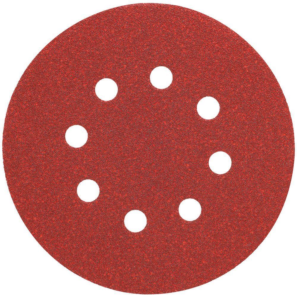 5 in. 8 Hole 150-Grit H and L Random Orbit Sandpaper (25-Pack)