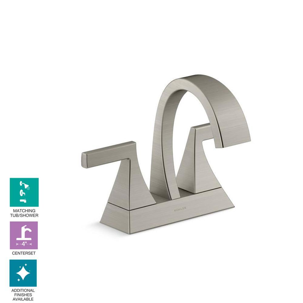 Katun 4-in. Centerset 2-Handle Bathroom Faucet in Vibrant Brushed Nickel
