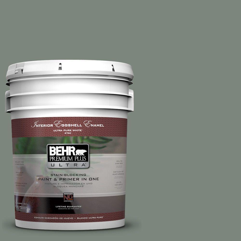 BEHR Premium Plus Ultra 5-gal. #N410-5 Village Green Eggshell Enamel Interior Paint