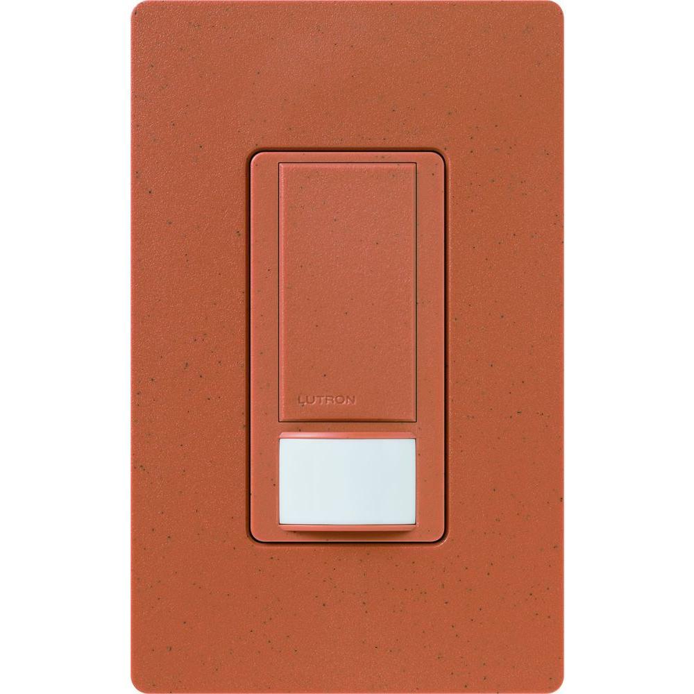 Maestro Dual Voltage Vacancy Sensor switch, 6-Amp, Single-Pole, Terracotta