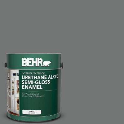 1 gal. #N520-5 Iron Mountain Urethane Alkyd Semi-Gloss Enamel Interior/Exterior Paint