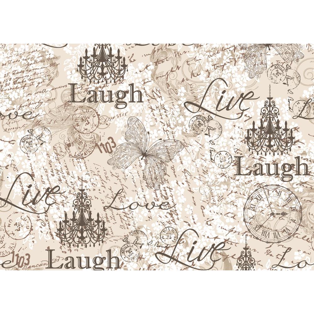 Morgan Home Grey Laugh, Love, Live Placemat Set (4-Pack)