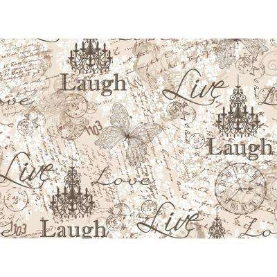 Morgan Home Grey Laugh, Love, Live Placemat Set (4-Pack)