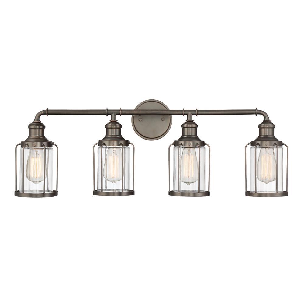 Designers fountain anson 4 light satin copper bronze for Home decor 91304