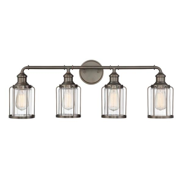 Anson 4-Light Satin Copper Bronze Interior Bar Bath Light