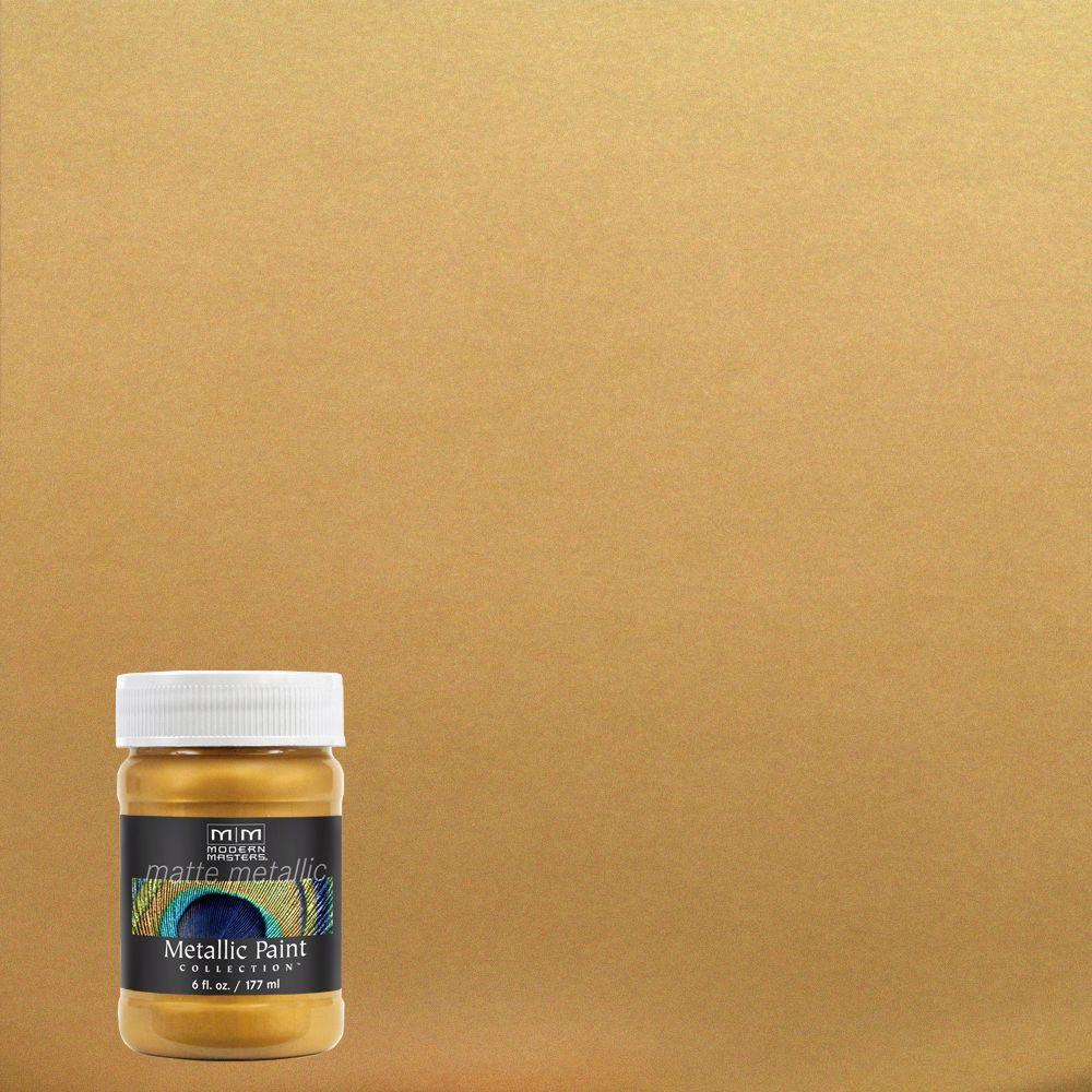 Modern Masters 6 oz. Pale Gold Matte Metallic Interior Paint-MM20006 ...