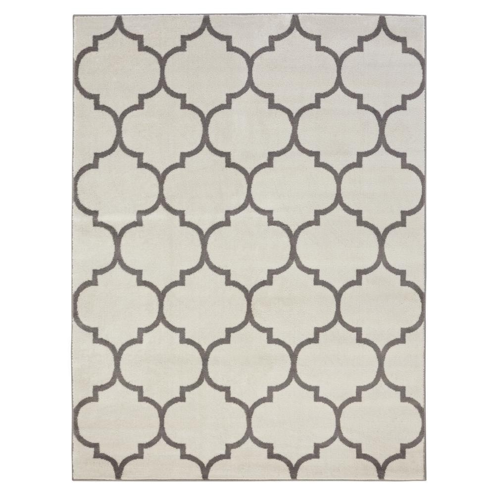 Royal Collection Cream Contemporary Moroccan Trellis Design 5 ft. 3 in.