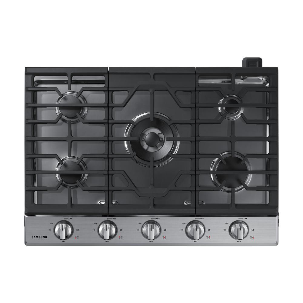 Samsung 30 in. Gas Cooktop in Stainless Steel with 5 Burners including Power Burner with Wi-Fi