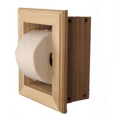 Newton Freestanding Toilet Paper Holder 16 Holder in Unfinished Niche Frame