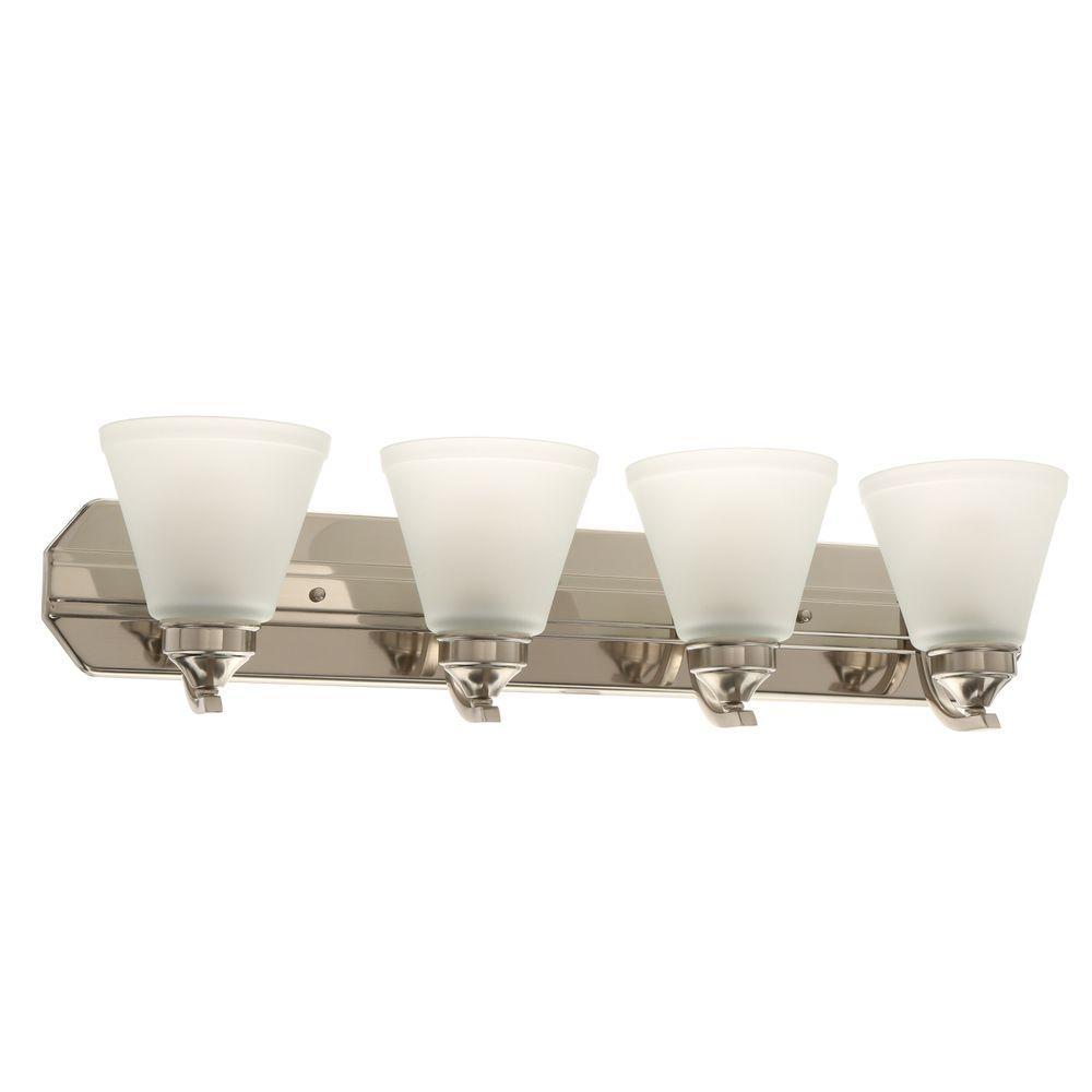 Bathroom Light Fixtures Over Sink: 4-Light Bathroom Vanity Light Fixture Over Sink Lighting