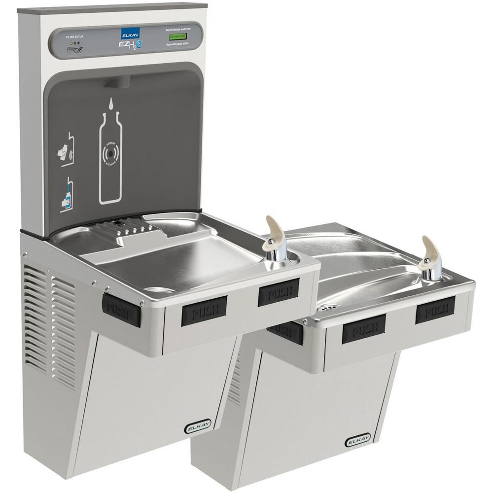 Filtered 8 GPH EZH2O ADA Stainless Steel Bi-Level Drinking Fountain with