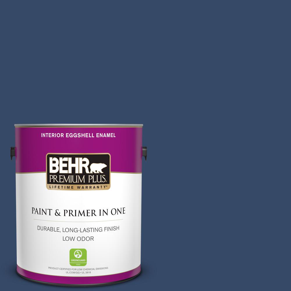 BEHR Premium Plus 1 Gal. #580D-7 Deep Royal Eggshell