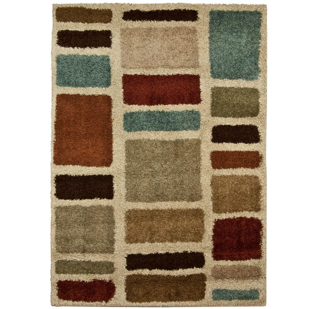 Moodie Blues Multicolor 5 Ft X 8 Ft Area Rug 211283 The Home Depot
