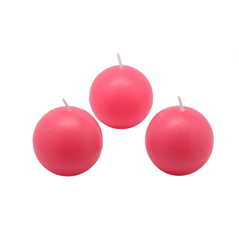 2 in. Hot Pink Ball Candles (Box of 12)