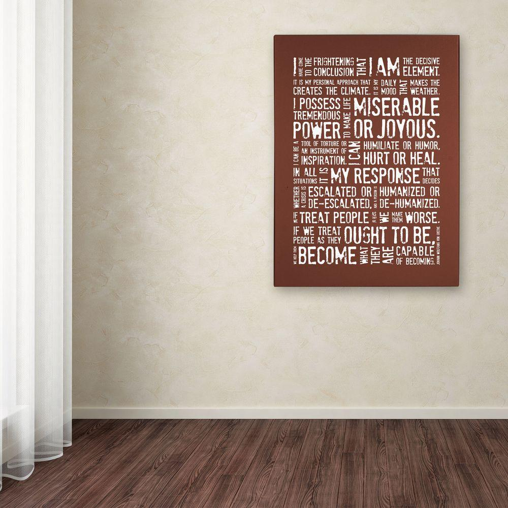 24 in. x 18 in. Decisive Elements III Canvas Art