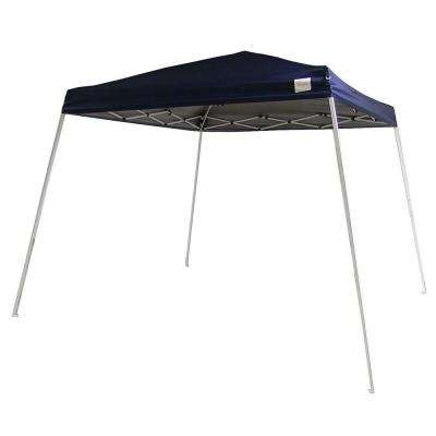 Quick-Up 8 ft. x 8 ft. Navy Blue Square Top Slant Leg Canopy with Carrying Bag