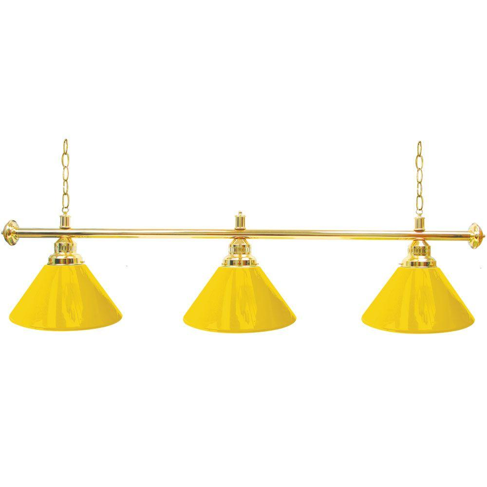 3-Light Yellow Billiard Lamp-603G-YEL