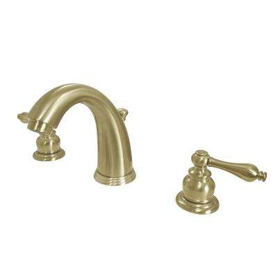 8 in. Widespread 2-Handle Bathroom Faucet in Satin Brass