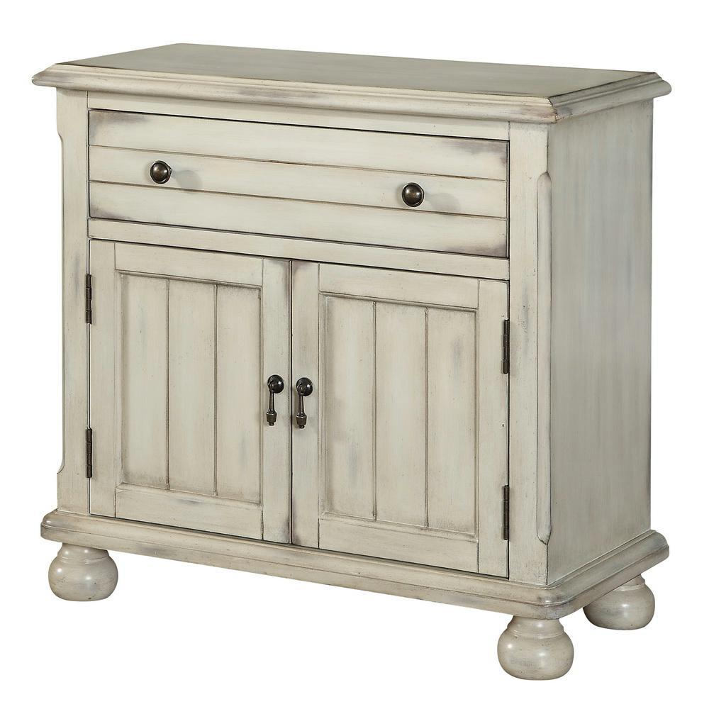 Chipley Distressed Sand 2-Door 1-Drawer Cabinet