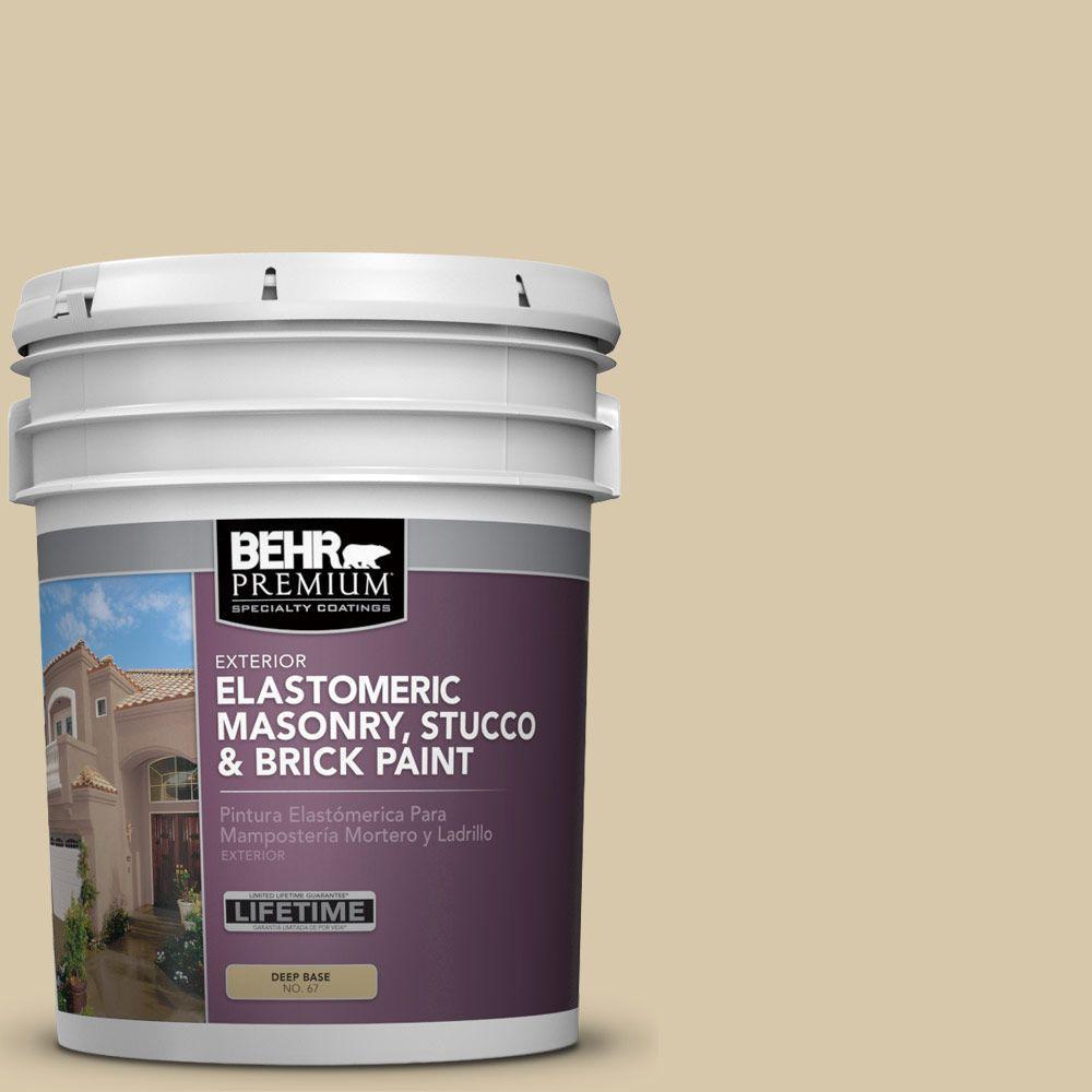 5 gal. #MS-42 Arabian Desert Elastomeric Masonry, Stucco and Brick Exterior Paint