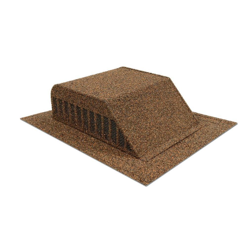 Granule-Coated Aluminum Slant Back Static Roof Vent in Brown