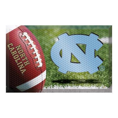 University of North Carolina - Chapel Hill Football Heavy Duty Rubber Outdoor Scraprer Door Mat