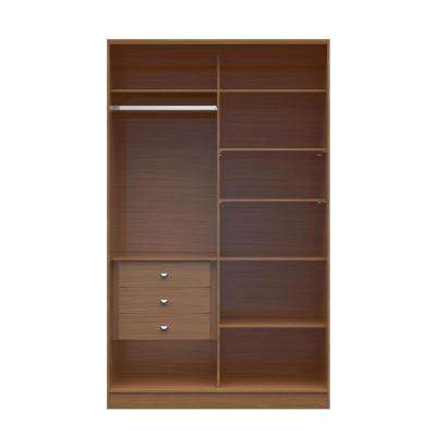 Chelsea 1.0   54.33 In. W Maple Cream Full Wardrobe With 3 Drawers