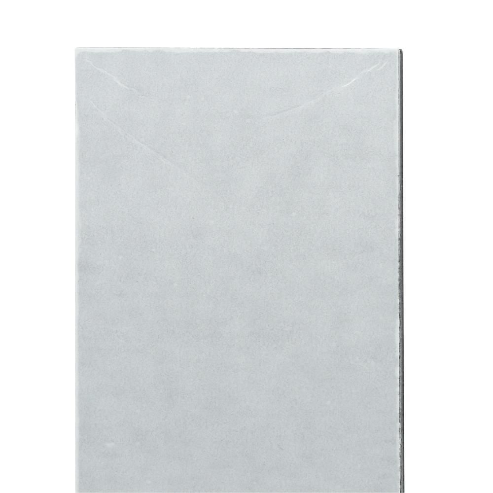 Short Grain 6 in. x 3 in. Brushed Stainless Metal Decorative Tile Backsplash (8-Pack)