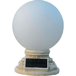 HomeBrite Solar 9-Light Solar White Outdoor LED Globe Entry Light with Frosted Glass by HomeBrite Solar