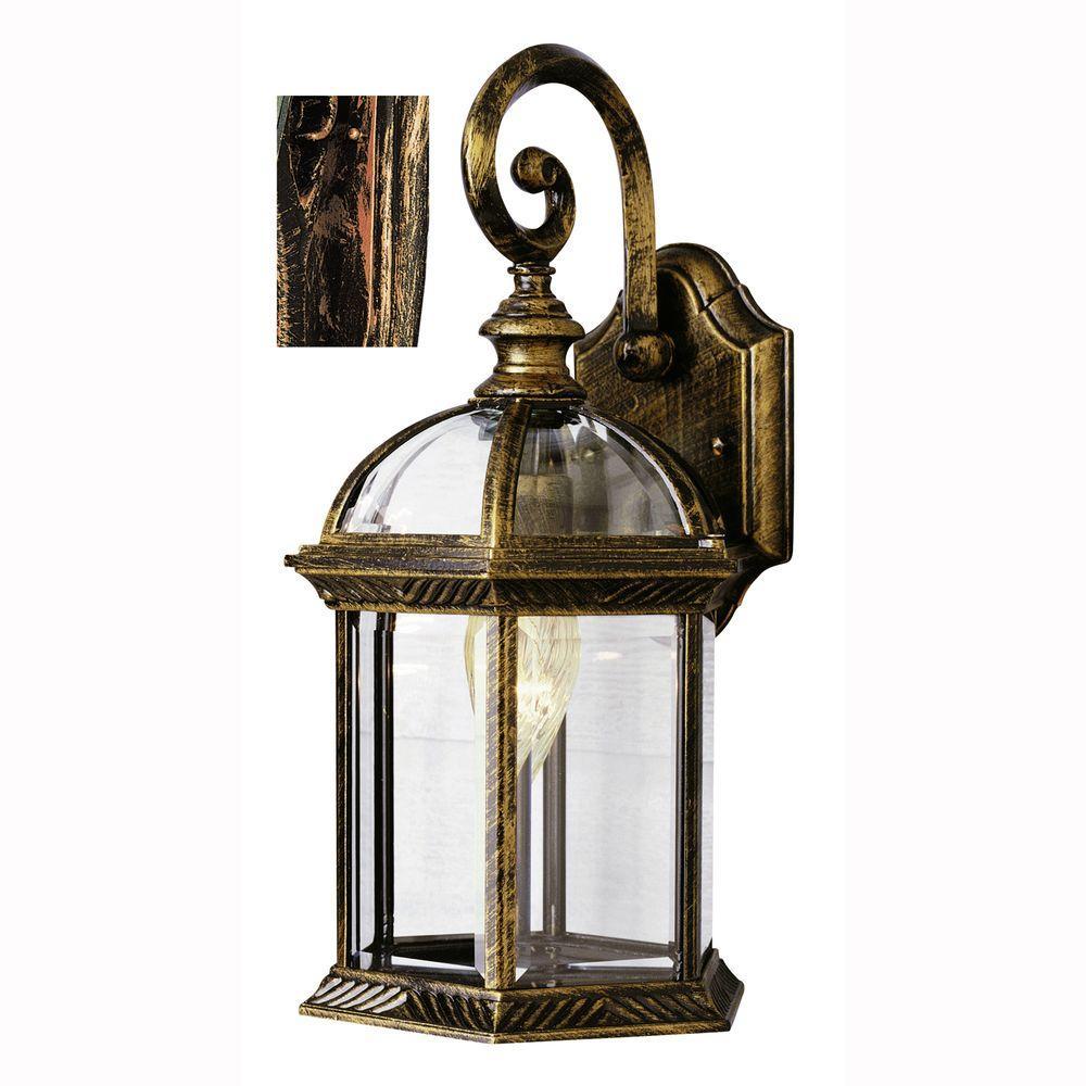 Wentworth 1-Light Black Copper Outdoor Wall Mount Lantern