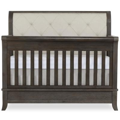 Amsterdam 5-IN-1 Smokey Brushed Grey Convertible Crib