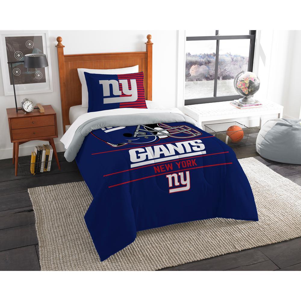 Etonnant NY Giants 3 Piece Draft Multi Twin Comforter Set