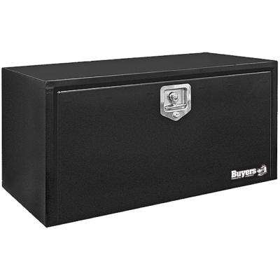 18 in. x 18 in. x 72 in. Black Steel Underbody Truck Box with T-Handle Latch