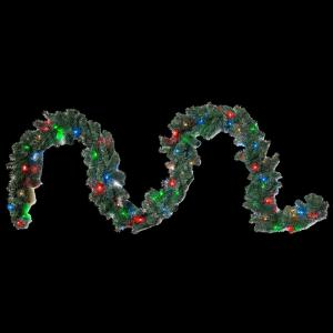 15 ft. Multi-Colored LED Lighted Christmas Garland, 150-Lights, A/C Powered