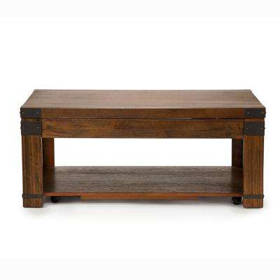 Arusha Lift Top Cherry Cocktail Table With Casters