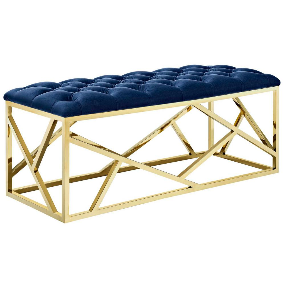 Gold Navy Intersperse Bench