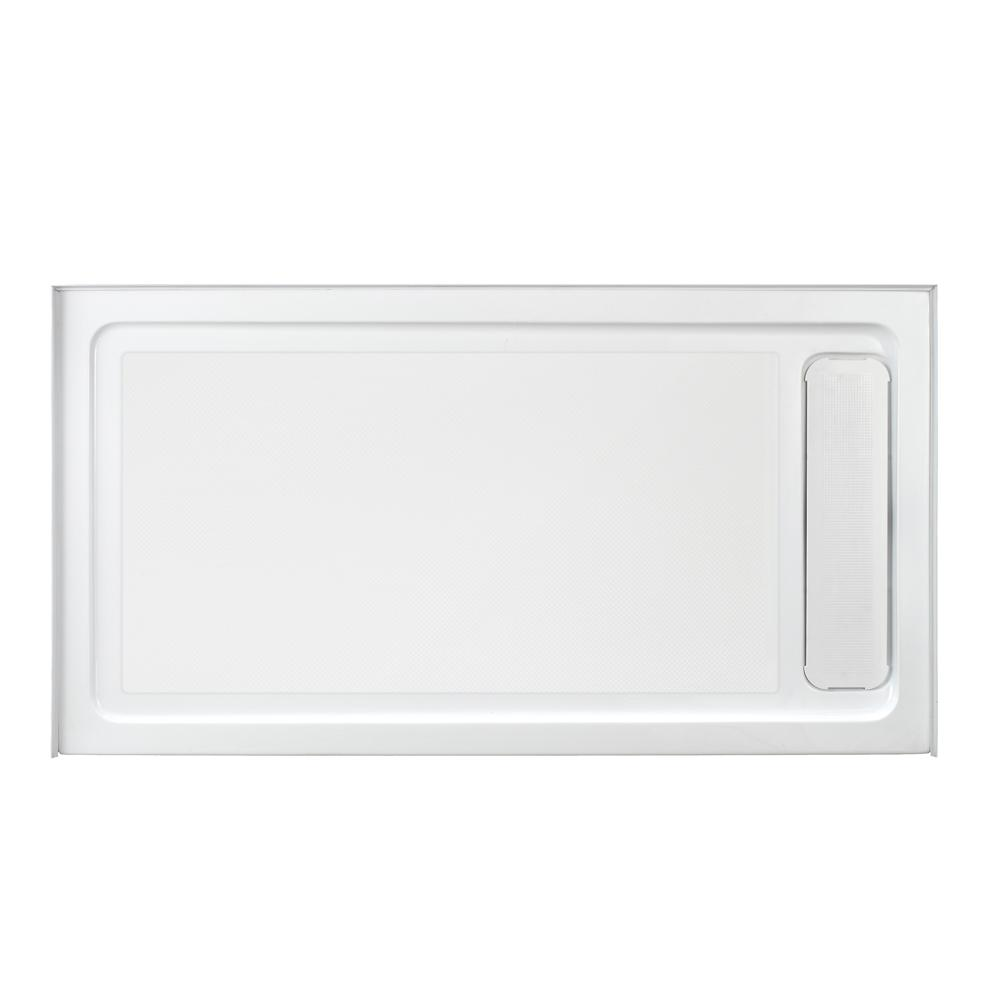 Glacier Bay 32 in. x 60 in. Single Threshold Shower Base with Side Hidden Drain in Glossy White
