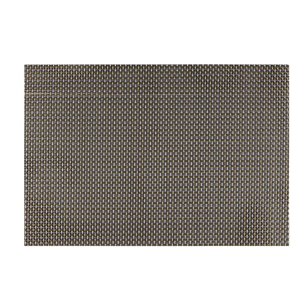 EveryTable Black, White and Gold Weave Placemat (Set of 12)